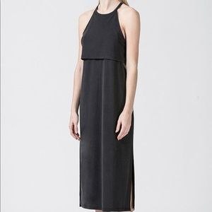 Black midi dress racer back medium